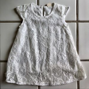 Baby Girl White Floral Dress
